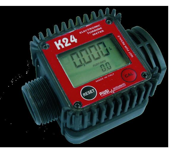 Цифровой турбинный счетчик литров для жидкостей  K24