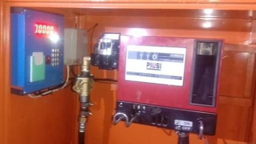 Контроль за топливом на заправочной колонке.