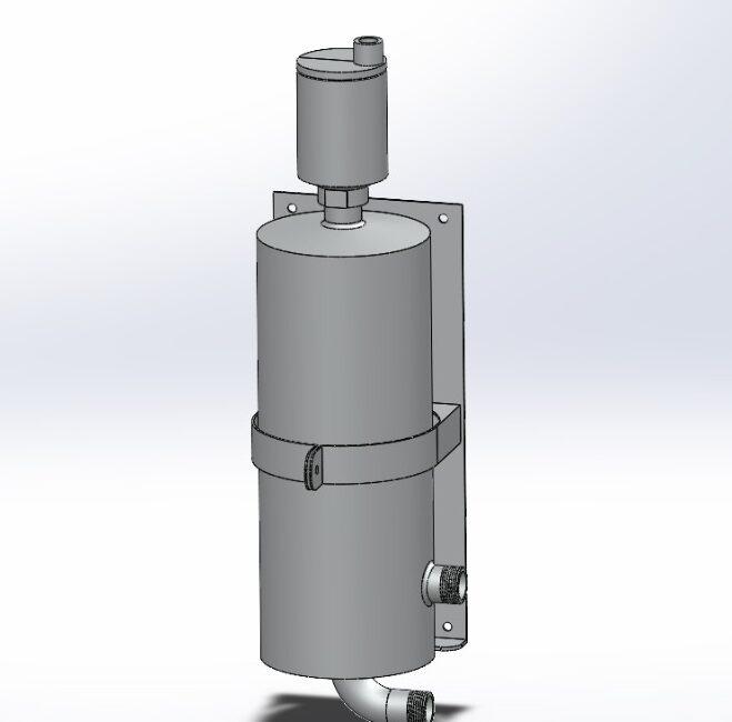 Вихревой газоотделитель пены и воздуха EX-Air Separator