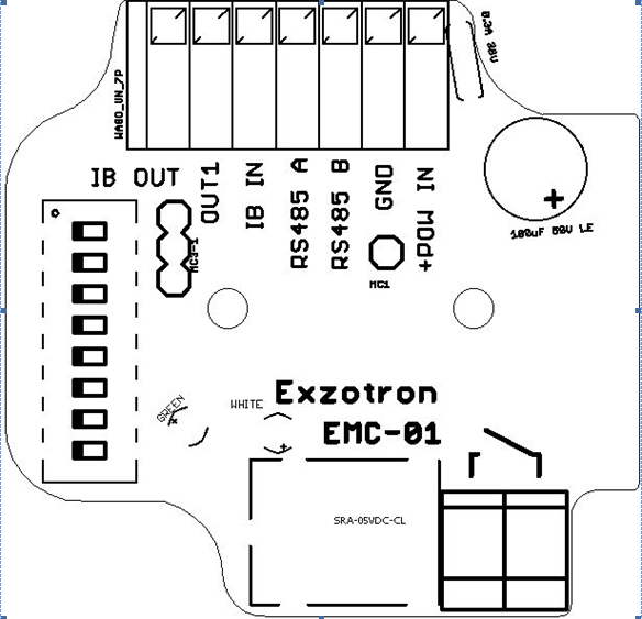 EMC 01 - Конвертор протокола Ibutton по шине 1-wire  в LLS RS485