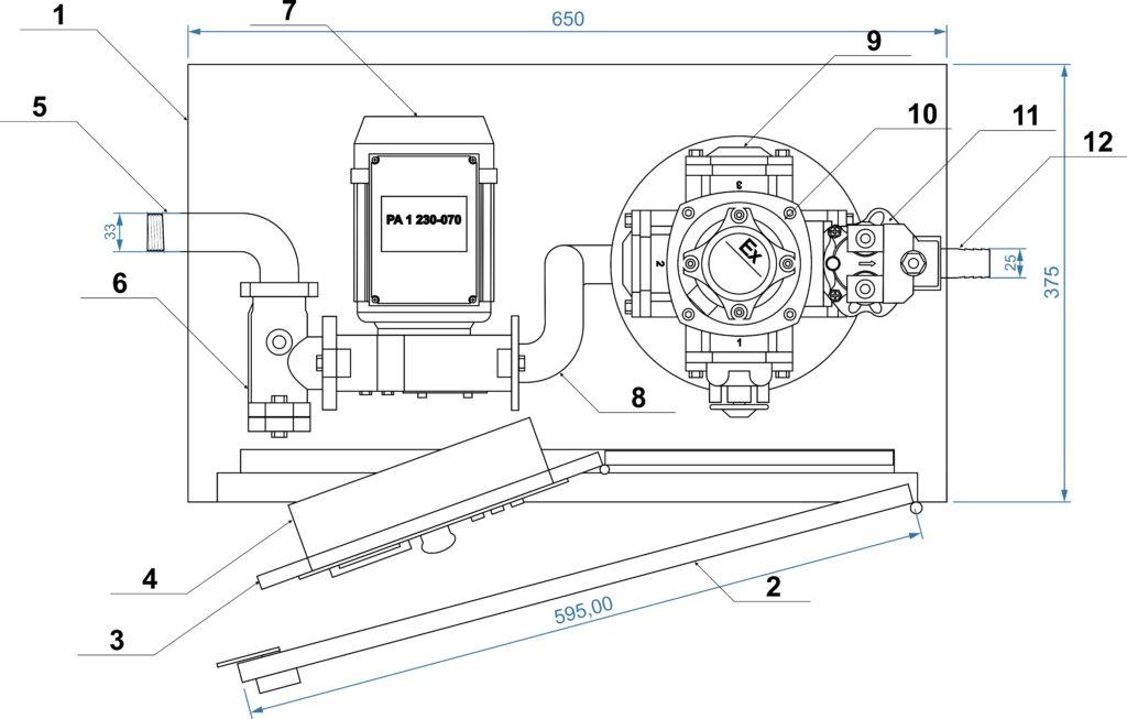 Топливозаправочный модуль EFL-BOX (horizontal) для учёта и выдачи дизельного топлива